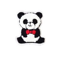 ingrosso panda patch-Asciugamano zona del ricamo Panda appliques a forma maglione giacca jeans cappotto cucito cerotto decorativo accessori Kids'clothing DL_CPIA024