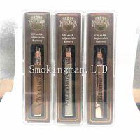 древесина сигаретных батарей оптовых-Лучшее качество Vape латунные кастеты батарея 650mAh золото дерево переменное напряжение регулируемая электронная сигарета аккумулятор ручка для 510 резьба G5 картридж