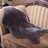 Wholesale red high chairs for sale - Group buy High Qulity colors Soft Faux Comfort Sheepskin Rug Mat Carpet Pad Anti Slip Chair Sofa Cover For Bedroom Decor