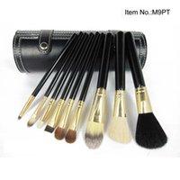 Wholesale wooden handle hair brush sets resale online - Brand Makeup brushes sets Brush kits Wooden handle make up brush tools Powder Contour brushes