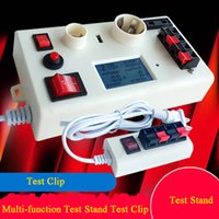 Wholesale test sockets resale online - LED Test Socket Test Clips Light Bulb Display Stands Clips Multifunction Light Test Kits With Switch