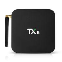 android tv media player 3d al por mayor-Android 9.0 TV Box 4 GB de RAM 32 GB Rom TX6 Allwinner H6 Quadcore 5G Wifi BT5.0 3D 4K H.265 Media Player
