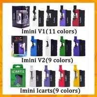 Wholesale batteries fit v2 resale online - Original Imini V1 V2 Icarts Kit With ml Cartridges Preheat Battery Mod Fit Liberty v1 v9 v14 ac1003 Vision spinner