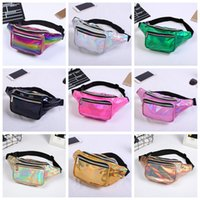 Wholesale cosmetics laser resale online - 11styles Girls laser Waist bag Colorful Beach Travel Pack Fanny pack handbag Girls Belt Purse Outdoor Holographic Cosmetic Bags FFA1419