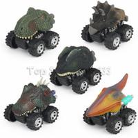 çocuklar için model kamyonlar toptan satış-Hayvan Çocuk Hediye Oyuncak Dinozor Modeli Mini Oyuncak Araba Hediye Geri Çekin Otomobil Oyuncak Kamyon Hobi Komik ÇOCUK Hediye Damla Nakliye
