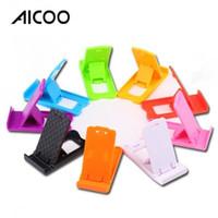 позиционирование мобильного телефона оптовых-Aicoo складной мобильный телефон подставка универсальный многопозиционный регулируемая подставка подходит для мобильных телефонов таблетки для iPhone iPad OPP