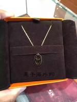 nariz 14k al por mayor-Diseñador de joyería de lujo collar de la nariz de las mujeres 14k collar de oro Charm Esmalte collares Mujer Cadenas de animales