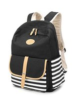 mode rucksäcke leicht großhandel-FIGROL Schulrucksack, Leichte Canvas Book Bags Schulter Daypack Laptoptasche Moderucksack