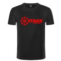 demir gömlek tasarımları toptan satış-YENI REM STARK INDUSTRIES TONY STARK DEMIR ADAM T-Shirt Yaz erkek Marka tasarım T-shirt Pamuk T Gömlek Spor Rahat Kısa Kollu