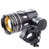 Wholesale bike headlight usb for sale - Group buy Bicycle T6 LED Light Bike Light Front Lamp Outdoor Zoomable Torch Headlight USB Rechargeable