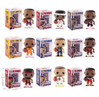 vinil de basquete venda por atacado-Funko pop star sports jogador de basquete kobe stephen curry vinil action figure collectible modelo toy para crianças brinquedos 1435