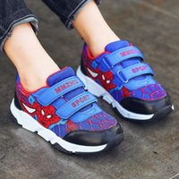 Wholesale kids wearing shoes for sale - Group buy Children Cartoon shoes boys sports shoes Wearable non slip wear running sneaker kids spider man sneakers