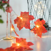 Wholesale autumn garland for sale - Group buy New m Led Windowill Autumn Leaves Garland Vine Fake Foliage String Home Garden Decoration Z MM265