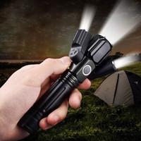 avião preto venda por atacado-BRELONG multi-função lanterna liga de alumínio três luzes lanterna flashlight avião lazer inteligente grande angular Preto