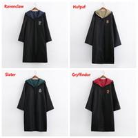 1. kinder großhandel-Thema Cosplay Kostüm Halloween Partykleidung Harry Potter Gryffindor Slytherin Hufflepuff Ravenclaw Mantel Zaubergewand Kinder Erwachsene Poncho 1St