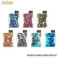 Wholesale vape nano resale online - Original VOOPOO DRAG Nano Pod System Vape Kit with mAh battery ml DRAG Nano Cartridge Resin panel
