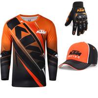 camiseta carrera motocross al por mayor-Para KTM Racing Team de motos de manga larga camiseta de los hombres de verano de reproducción bici de la suciedad del motocrós Tops deportes al aire libre ATV MX Camiseta