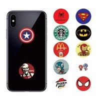 esnek cep telefonu toptan satış-DHL Evrensel 360 Derece Süper Kahraman Cep Telefonu Tutucu Gerçek 3 M tutkal Genişletilebilir Kavrama Parmak iPhone Samsung Huawei Için Esnek Standı