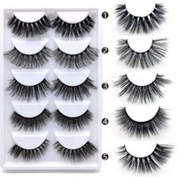 Wholesale best eyelash strips resale online - 3D Eyelashes Mixed Styles Different Styles Big Eye lashes Pairs Natural Long Thick Handmade Lashes Hair Extension Best Selling
