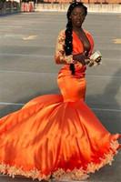 ingrosso black orange gown-