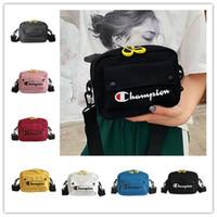 Wholesale pouch belt strap resale online - Unisex Champions Canvas Funny Packs Crossbody Waist Chest Bags Belt Strap Handbag Shoulder Bags Travel Beach Sports Tote Pouches C51301