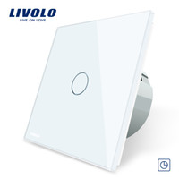 Wholesale led color timer for sale - Group buy Livolo EU Standard Timer Switch s delay AC V Color Glass Panel Light Touch Switch LED Indicator