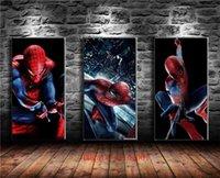nackter kunstmann großhandel-Spider Man, 3P Canvas Pieces Wohnkultur HD gedruckt moderne Kunst Malerei auf Leinwand (ungerahmt / gerahmt) # 01