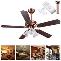 Wholesale 48 bulb resale online - LED Ceiling Fans quot Blades Ceiling Fan Light Speed Kit Antique Reversible Remote Control