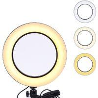 transmisión de videos en vivo al por mayor-Círculo LED de 10 pulgadas con luz de anillo regulable para transmisión en vivo Trípode Producción de videos de YouTube Fotografía de luz Enseñanza en línea