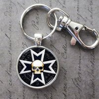 Wholesale Black Templars Warhammer Glass Cabochon Key Chain Pendant Accessories