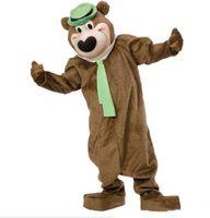 teddybär kostüm benutzerdefinierte großhandel-Professionelle benutzerdefinierte Yoga Yogi Bär Maskottchen Kostüm Cartoon Herr Teddybär Tier Charakter Kleidung Halloween Festival Party Kostüm