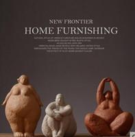 wohnzimmer-ornamente modern großhandel-Nordischer Artcharakter verziert moderne Dekoration der fetten Frauenausgangsdekorationwohnzimmermodellraumharzzusammenfassung
