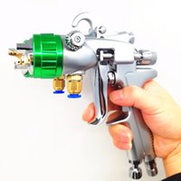 Wholesale pneumatic spray for sale - Group buy Auarita PT double nozzle spray gun wall painting spraying water spraying1 mm Dual Head Pneumatic Sprayer