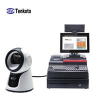 china ios telefone großhandel-USB China Factory Mehrere omnidirektionale 2D-Desktop-Scanner Bildscannen 1D-Tags oder Android IOS-Telefon mit Lautsprecher