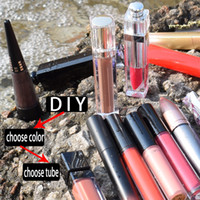 Wholesale lipstick shades resale online - choose tube shades color lipgloss color liquid lipstick long lasting non stick cosmetics accept your logo print