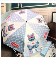 nuevo sol paraguas plegable lluvia al por mayor-Nuevo llega el 3 paraguas plegable automática flor de la camelia Sombrilla Parasol lluvia UV paraguas de sol para hombres, mujeres Blooming camelia