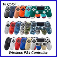 ingrosso regolatore di gioco senza fili che spedice liberamente-Joystick wireless Bluetooth per controller PS4 adatto per console PlayStation 4 con pacchetto Retail LOGO Game Controller spedizione DHL gratuita