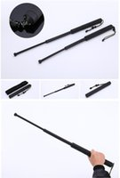 Wholesale Self Defense black Three Extendable Lightweight Rejection Stick Plastic Survival camping Protective gear hand tools