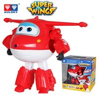 Wholesale wings boy resale online - AULDEY Super Wings Cartoon Robots Jett Dizzy Flip Toy Action Figures cm Animation Kids Designer Brand Toys Desformation Kids Gifts Toys