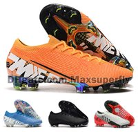 Wholesale men shoes soccer ronaldo for sale - Group buy 2019 Hot Men Mercurial Vapors XIII Elite FG CR7 Ronaldo Neymar NJR SHHH Low Ankle Soccer Football Shoes Size