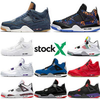 Wholesale coolest basketball shoes resale online - 4 S Pure Money Basketball Shoes for men New Bred Raptors Lightning Sneakers Cool Grey Gamma White Cement Cool Grey Trainers