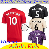 kit de pogba al por mayor-2019/20 Tailandia camiseta de fútbol Manchester Pogba Rashford MAGUIRE camiseta de fútbol unido Utd19 20 uniformes del hombre y de la mujer + kids kit Jersey