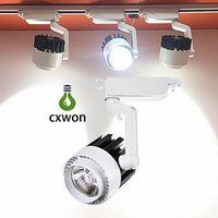 ingrosso la luce del punto di inseguimento-Luce da binario 20W 30W AC 85-265V 3000lm Rail Light Rail LED Head Track Plafoniera