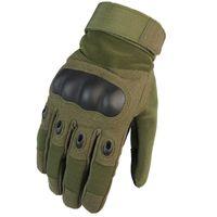 guantes de combate táctico al por mayor-Guantes tácticos Hombres Guantes de invierno de dedos completos Guantes de paintball Airsoft Shoot Combat Guantes de bicicleta antideslizantes
