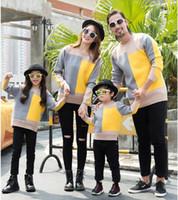 ingrosso la madre veste il colore nero-2019 nuovo arrivo Vestiti uguali Famiglia maglione di lana confortevole