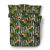 ingrosso cuscino di stampa animale shams-A strisce di tigre Ragazzi letto di 3PC consoli copripiumino Digital 3D Print 3PCS 1 copripiumino 2 falsità del cuscino Animali Vivid