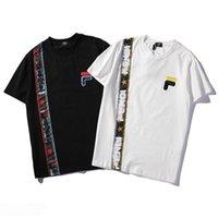 высокое качество tshirt оптовых-19ss Fendis дизайнер рубашка прилив бренд женская мода мужские футболки письмо с принтом вышивка футболка высокое качество хлопок хлопок повседневная рубашка S-XXL