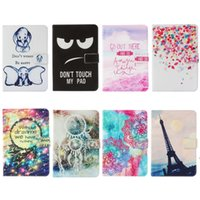 Wholesale mix s tablet resale online - Cartoon Printed Universal inch Tablet Case for Sony Xperia Tablet S kickstand PU Leather Flip Cover Case for Sony Tablet S