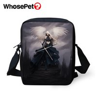 Wholesale body paintings nude for sale - Group buy WHOSEPET Dark Gothic Angel Painting Cross Body Messenger Bags Boys Shoulder Bag Cool Girls School Bags for Children Mini Postbag