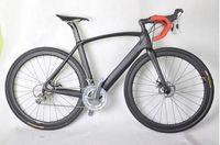 china straßen großhandel-La mejor calidad china volles fahrrad cyclcross carbonrahmenscheibe vollcarbon rennrad aero carbon fahrrad